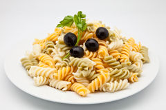 Plate of macaroni Stock Photo