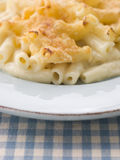 Plate of Macaroni Cheese Stock Photo