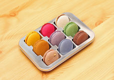 Plate macaroons Royalty Free Stock Photography