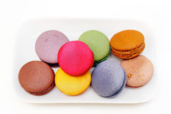 Plate macaroons Stock Images