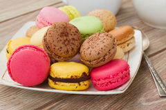 Plate of  macaroons Royalty Free Stock Image