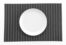 Plate mat with plate Stock Photo