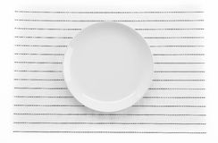 Plate mat with plate Stock Image