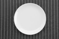 Plate mat with plate Royalty Free Stock Image