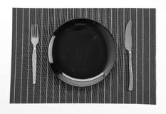 Plate mat with plate Royalty Free Stock Photos