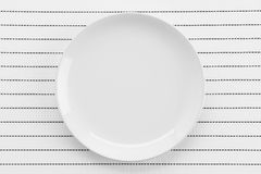 Plate mat with plate Royalty Free Stock Photo