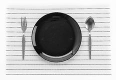Plate mat with plate Royalty Free Stock Images