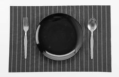 Plate mat with plate Stock Photos