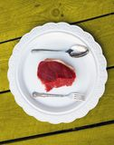 Plate with meat Royalty Free Stock Images
