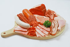 Plate of meats Stock Photography