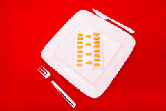Plate with medicine Royalty Free Stock Photography