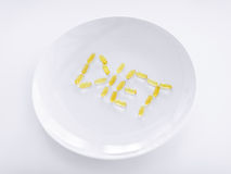Plate with meds Royalty Free Stock Photo