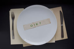 Plate with the message Diet Stock Images
