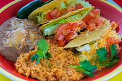 Plate of Mexican food Royalty Free Stock Photo