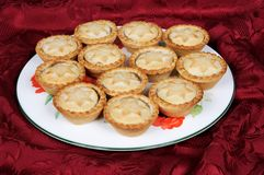 Plate of mince pies. Stock Images