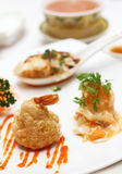 A plate of mixed Chinese delicacies Stock Images
