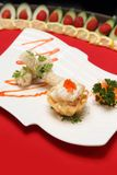 A plate of mixed Chinese delicacies Stock Photo