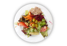 Plate of mixed salad Royalty Free Stock Photos