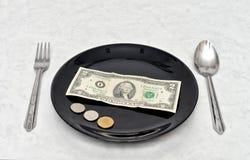 Plate of Money Stock Photos
