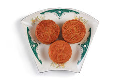 A plate of mooncake Royalty Free Stock Photo
