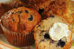 Plate of muffins stock image