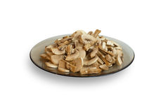Plate with mushrooms Stock Photography