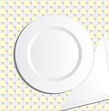 Plate and napkin  Stock Photo
