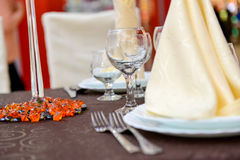 Plate with napkin on it Royalty Free Stock Photo