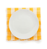 Plate at napkin Royalty Free Stock Photography