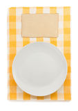 Plate at napkin Stock Photos