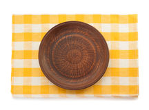 Plate at napkin Stock Image
