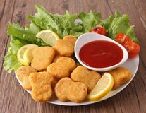 Plate of nuggets Royalty Free Stock Images