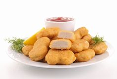 plate of nuggets Stock Photos