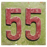 Plate with a number 55 Royalty Free Stock Image