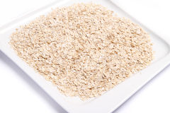 Plate of Oat Flakes Royalty Free Stock Photo