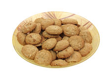 Plate Oatmeal Cookies Angle Stock Photo