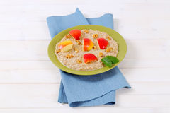 Plate of oatmeal porridge Royalty Free Stock Photos