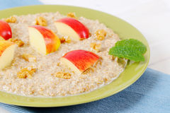 Plate of oatmeal porridge Royalty Free Stock Photography