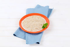 Plate of oatmeal porridge Royalty Free Stock Photo