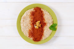 Plate of oatmeal porridge Royalty Free Stock Photo