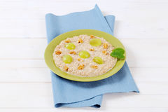 Plate of oatmeal porridge Stock Image