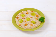Plate of oatmeal porridge Royalty Free Stock Image
