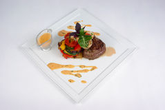 Plate Of Fine Dining Meal Stock Photos