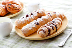 Free Plate Of Fresh Buns With Jam Royalty Free Stock Image - 33616646