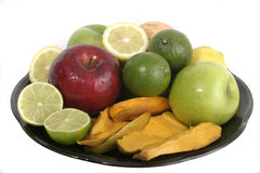 Plate Of Fruit 1 Royalty Free Stock Photos