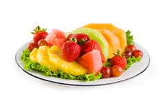 Plate Of Fruit Royalty Free Stock Photos