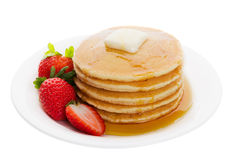 Plate Of Pancakes Royalty Free Stock Photography