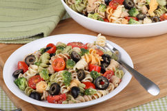 Plate Of Pasta Salad Royalty Free Stock Images