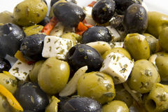 Plate with olives stock image