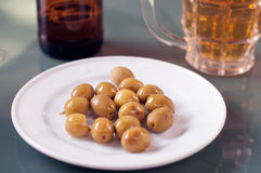 Plate with olives Royalty Free Stock Photo